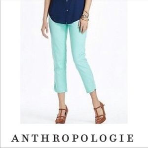 Anthropologie Cartonnier Teal Ankle Pants